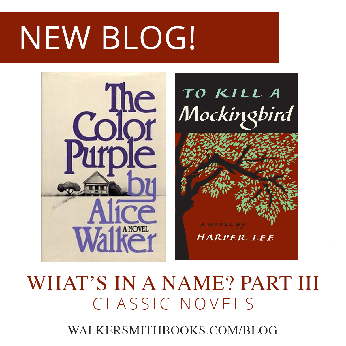 What's in a Name? Pt. 3:  Classic Novels